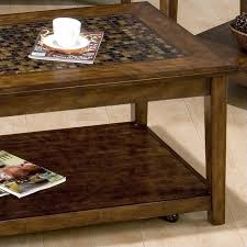 jofran baroque end table jofran baroque cocktail table with mosaic tile inlay in brown 698 1