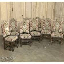 set of 8 renaissance style tapestry upholstered dining chairs