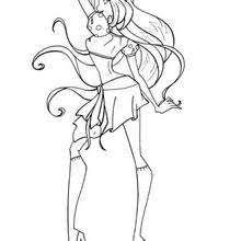 fairy winx club flora coloring pages hellokids