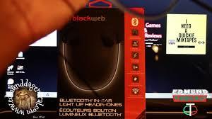 blackweb lighted bluetooth speaker review blackweb bluetooth in ear light up headphones review youtube