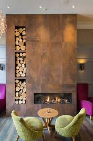 beautiful tile clad fire place at inn on the square in keswick
