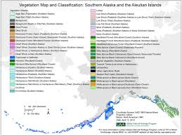 map of aleutian islands vegetation map for southern alaska and the aleutian islands