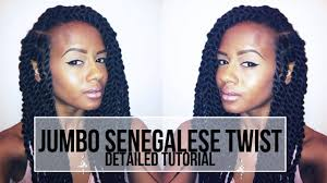 senegalese twist using marley hair jumbo senegalese twists tutorial youtube