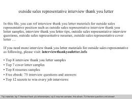 sample outside sales cover letter outside sales representative