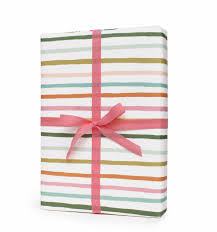 pink wrapping paper happy stripe wrapping sheets by rifle paper co made in usa