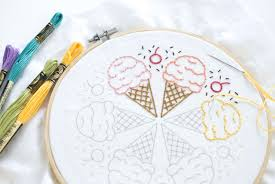 10 embroidery patterns for summer
