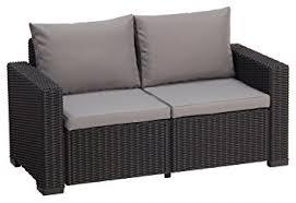 canap lounge allibert california canapé lounge 2 places graphit cool grey