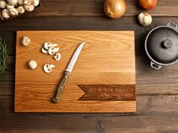 wooden wedding gifts engraved wooden chopping boards amour wedding gift idea