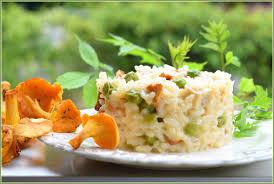 cuisine girolles risotto aux girolles de printemps et petits pois frais la