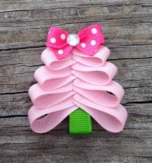 christmas hair accessories pink christmas tree hair clip christmas hair toddler