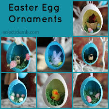 egg ornaments diorama easter egg ornaments eclectic