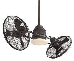 industrial style ceiling fan with light minka aire vintage gyro f802 orb airflow rating 5050 cfm cubic