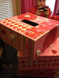 Valentine Decorated Boxes Ideas by Valentine Boxes For The Husband Was Being Super Helpful
