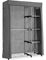 amazon com whitmor deluxe double rod organizer silver black