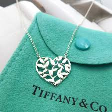 tiffany sterling heart necklace images Tiffany paloma picasso olive leaf heart necklace the jewelry box jpg