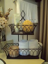 bathroom counter storage ideas color wire basket with tiers for fruit in kitchen decor