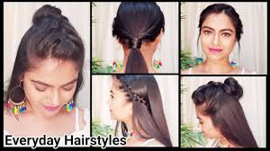 5 quick easy college hairstyles everyday indian hairstyles for