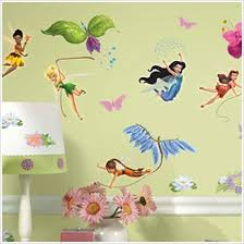 Disney Fairies Decals Tinker Bell Removable Wall Decals For - Disney wall decals for kids rooms