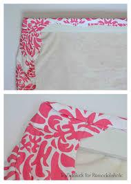 How To Make A No Sew Window Valance Remodelaholic Easy No Sew Window Valance From A Crib Sheet