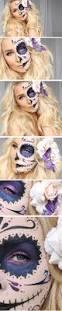 Sugar Skull Halloween Makeup Tutorial by Halloween Tutorial Half Sugar Skull