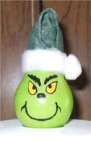 grinch lightbulb paint light bulb grinch green then draw out