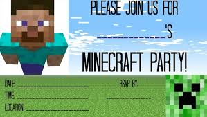 minecraft birthday invitations free minecraft party invitation template invitations online