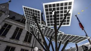 israeli solar panel tree is planted in central the