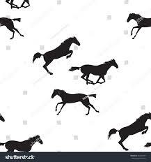 seamless pattern horses horse seamless stock vector