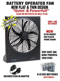 battery operated fans this o2 cool battery operated fan runs on batteries or the