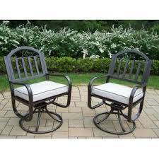 Patio Set With Swivel Chairs Swivel Patio Dining Chairs You U0027ll Love Wayfair