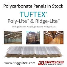 Clear Corrugated Plastic Roof Panel Greenhouse by Tuftex Polycarbonate Skylight U0026 Sidelight Panels U2013 Briggs Steel