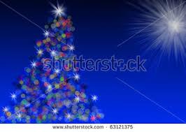 vector tree lights bethlehem stock vector 21715147