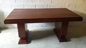 art deco mahogany dining table from gaston poisson 1930s for sale art deco mahogany dining table from gaston poisson 1930s
