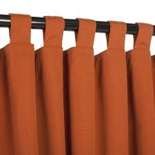Curtains With Tabs Sunbrella Outdoor Curtain With Tabs Rust 50 W X