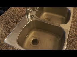 sink not draining but pipes clear clogged drain how to unclog a clogged kitchen sink easy fix youtube