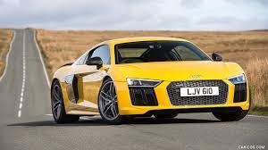 Audi R8 V10 - 2016 audi r8 v10 plus coupe uk spec yellow front hd