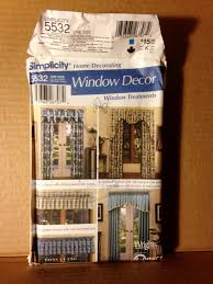 simplicity home decor simplicity 5532 home decorating window decor window treatment