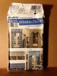 simplicity 5532 home decorating window decor window treatment