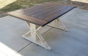 Dining Room Furniture Made In Usa by Kent Dining Table Trestle X Farmhouse Reclaimed Wood