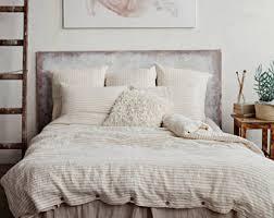 linen duvet cover pink linen bedding washed linen bedding