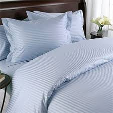 Extra Long Twin Bed Sheets Amazon Com Striped Light Blue 600 Thread Count Twin Xl Twin Extra