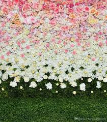 flower backdrop pink white flowers wall backdrop wedding roses green
