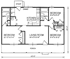 3 bedroom cabin plans house plan 45309 at family home plans