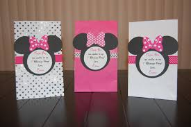 personalized party favor bags personalized minnie mouse favor bags pink white and polka dot