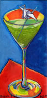 martini glass acrylic painting paintings karen elaine