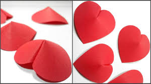 how to make 3d paper heart for decoration diy crafts paper