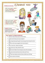 27 free esl past tense used to worksheets for elementary a1 level