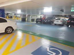 protective car park vehicle traffic decking colourful and clear