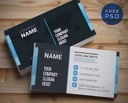 designs stylish business card template powerpoint with best navy