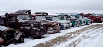Old Ford Truck Junkyard - hundred of classic cars left on a junkyard gt speed